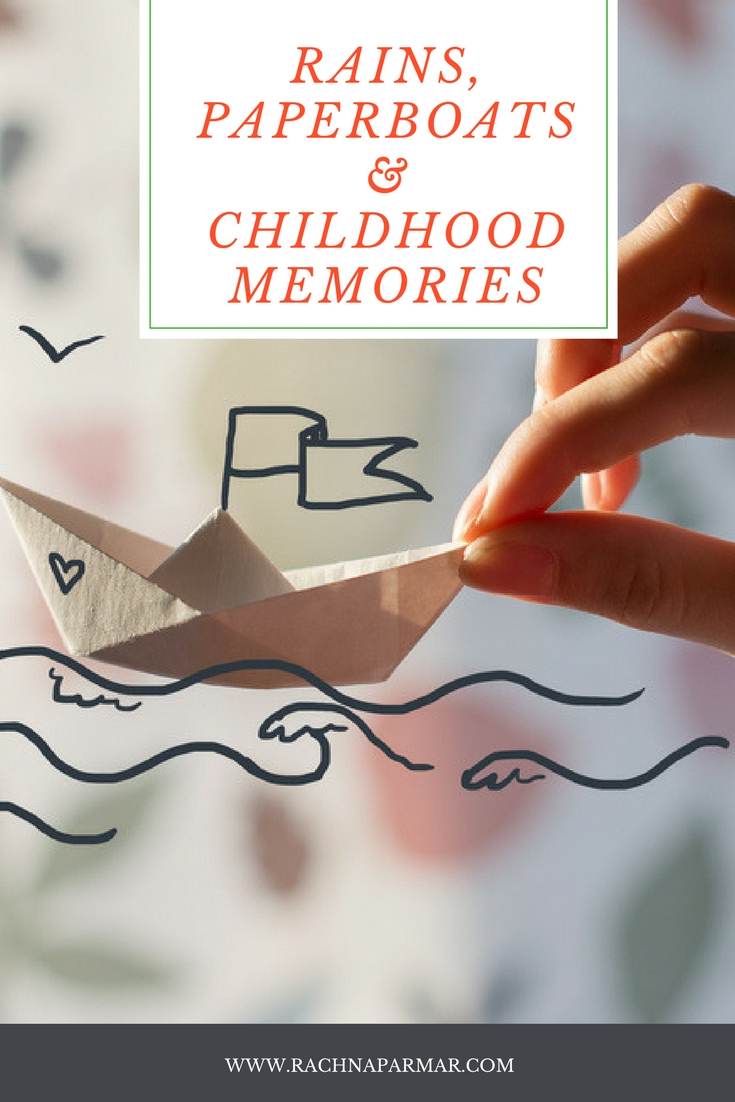 rains paper boats children