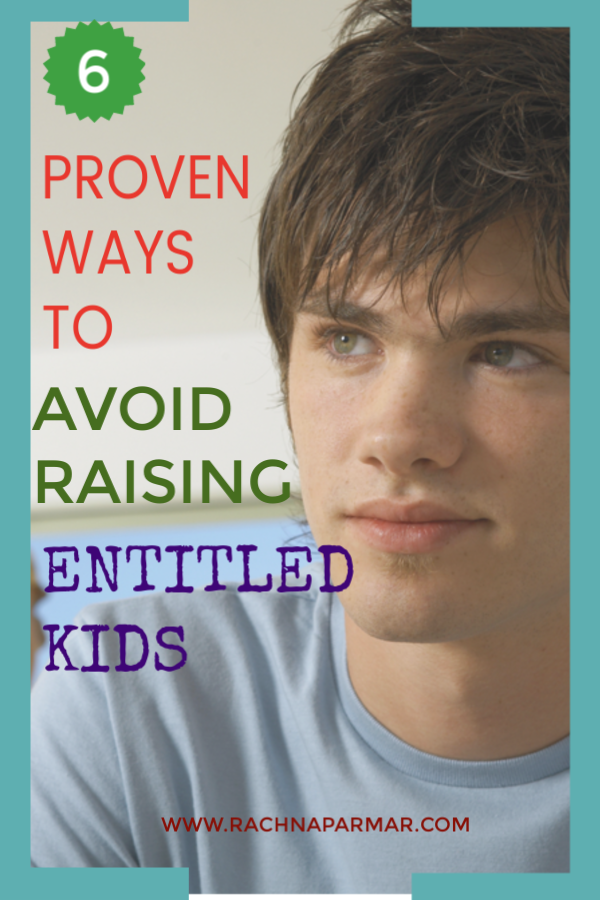 avoid raising entitled teens
